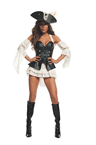 Starline S2013 Women's Black Pearl Sexy Pirate Costume Set Adult-Sized,...