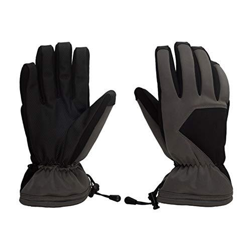 Unisex Winter Handschuhe Radfahren Laufen Handschuhe Touch Screen Fahren Handschuhe Anti Rutsch Thermal Sport Handschuhe Mit Aktualisiert Verdickte Fleece-Futter,Grau,S