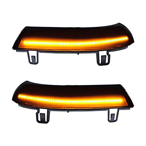 Compatible with VW Golf 5 Jt MK5 Passat B6 LED Amber Turn Signal Light Mirror Indicator Sequential Smoke Lens