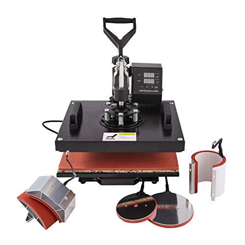 CO-Z 5 en 1 Prensa de Calor 30 X 38CM Impresora para Camisetas con Control Digital Dual Máquina Plancha Termica Sublimacion Giratoria de 360 Grados para Camiseta Taza Sombrero (30 x 38 cm 5 en 1)