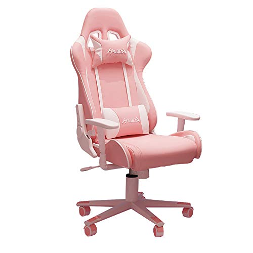 Pink Gaming Chair Office Chair High Back Computer Chair Desk Chair,Office Chair PC Gaming Chair Ergonomic Gaming Chair Office,Swivel Gaming Chairs (Pink)