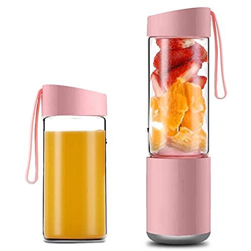 HYLK Taza de agua Exprimidor eléctrico Personal portátil Licuadora USB Viaje Botella 3D recargable Magnífica fruta licuadora para batidos y batidos