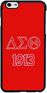 Case for iPhone 6 Plus, Delta Sigma Theta Case for iPhone 6S Plus (5.5 inch), DST-002, Sorority Cell Phone Protective Cover for Women