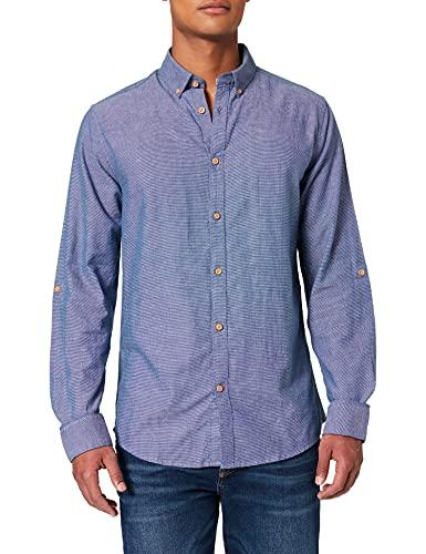 Springfield Camisa Estructura, Azul Claro, L para Hombre