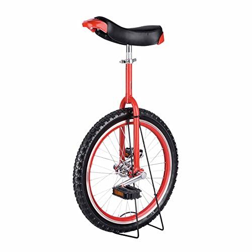 HXFENA Einrad,Balance Radfahren ÜBung Akrobatik Einrad Einstellbar Skidproof Reifen Konturiert Ergonomischer Sattel FüR Kinder AnfäNger / 18 Inches/Red
