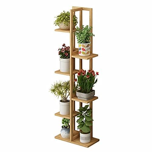 TVPEHP Bambú simple de pie de 6 niveles de soporte de flores para plantas de interior Soporte de bambú para plantas, patio, jardín, esquina, balcón, sala de estar