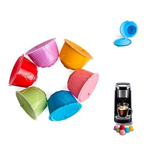 Filtro riutilizzabile per caffè, SUNJULY Capsule di Caffè Universali Colorate Ricaricabili Capsule di Caffè compatibili con Filtro Pod per Dolce Gusto (6 pezzi)