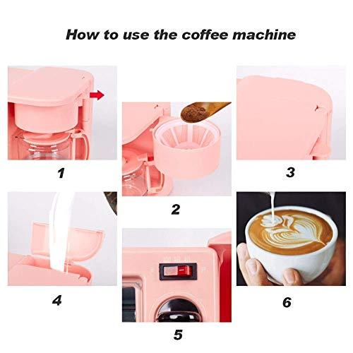 414aJTzL 8L - Qinmo E-Ofen, Multifunktions-Frühstück Maschine, Non-Stick Bratpfanne Sandwich Hot Dog Toast Pizza Spiegelei Home Küche Elektro-Ofen (Farbe: Schwarz) (Farbe: Schwarz) (Größe: Pink), Größe: Rosa