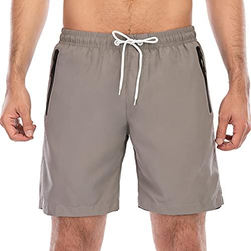 OUTHIKER Shorts de Bain Homme avec Slip en Filet Séchage Rapide Maillot de Bain Homme Cordon de Serrage Réglable Confortable Short de Plage pour Vacance Natation Piscine