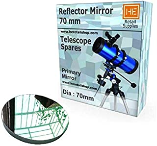 RETAIL SUPPLIES Telescope Reflector Primary Concave Dia 70 mm focas 750mm & Secondary Mirror 20 x 30 mm, high Polish Refle...