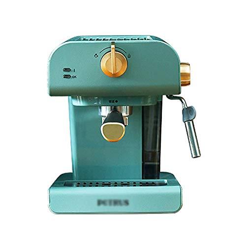 LLKK Filtrar máquinas de café retro Cafetera de café espresso para el hogar sola olla de acero inoxidable con espumador de leche Máquina de café espresso (color: A)