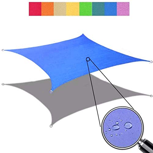Generic Brands Useful Sun Shade Sail Square Rectangle Waterproof UV Garden Patio Awning Canopy Tent Sunshade Shelter(4x7m)
