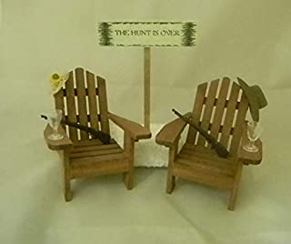 Wedding Country Western Reception Adirondack Chairs Rifle Cake Topper