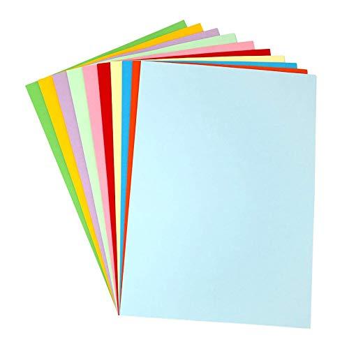 Tarjeta de papel de colores 120 g/m², papel de origami, 100 hojas, A4, papel pastel para papel de impresora de color origami hecho a mano