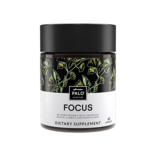 Focus   All-Natural Brain Booster & Nootropic for Memory & Mental Clarity - with Ginkgo Biloba, Bacopa Monnieri, Gotu Kola, Ashwagandha, Mucuna Pruriens and Turmeric by PALO Nutrition