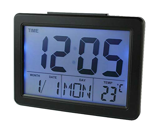 Soytich Digitaluhr Wecker Alarm Uhr Digitalwecker (2619) (In schwarz)