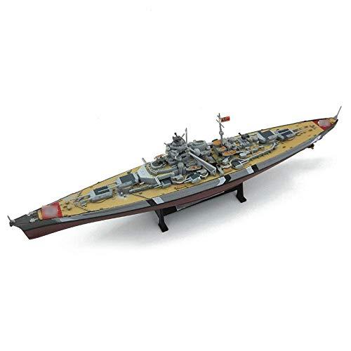 MxZas 1/900 - Maqueta de plástico militar, Battleship, alemán, Bismarck Warship para adultos, regalos decorativos, 9,4' Jzx-n