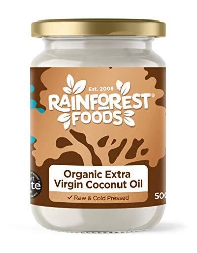Rainforest Foods Organic Virgin Coconut Oil 500ml for Cooking, Baking, Skin...