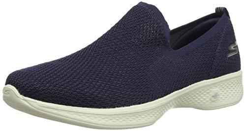 Skechers Damen Go Walk 3 Slip On Sneaker, Blau (Navy NVY), 38 EU
