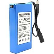 ele ELEOPTION Batería recargable de iones de litio para adaptador de batería CCTV de 12V Capacidad muy alta 6800MAH DC12680