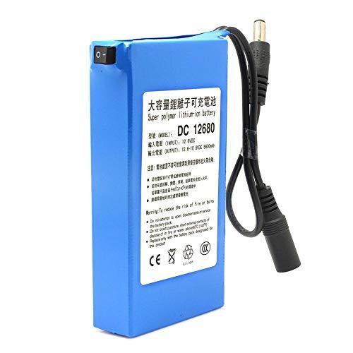 ele ELEOPTION Batteria ricaricabile ricaricabile agli ioni di litio per batteria CCTV da 12V Capacidad muy alta 6800MAH DC12680