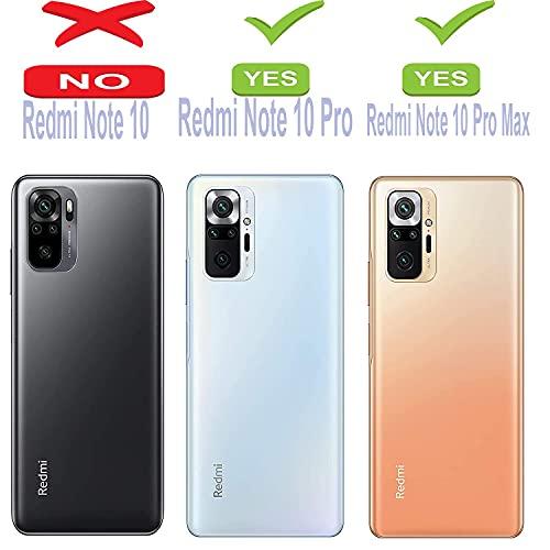 Winble Soft Silicon Camera Protection Back Cover Designed for Redmi Note 10 Pro/Note 10 Pro Max (Black)