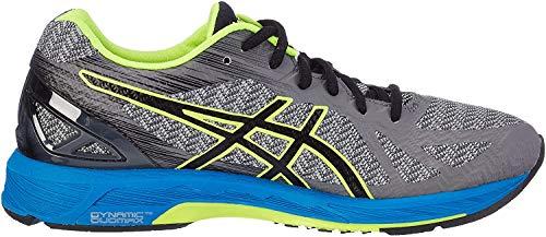 ASICS Herren Gel-DS Trainer 22 Lauflernschuhe Sneakers, Grau (Carbon/Black/Safety Yellow), 40 EU