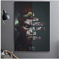 動機付けのポスター壁アートキャンバス絵画現代動物猿ゴリラキャンバスポスターと家の装飾のためのプリントクアドロス60x80cm(24x32in)