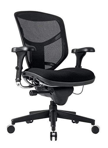WorkPro Quantum 9000 Series Mesh/Fabric Mid-Back Desk Chair, Black