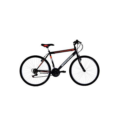 Masciaghi Bicicletta Mountain Bike Ruota 24 per Ragazzo Nera e Arancio