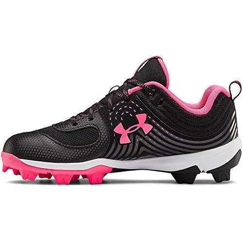 Under Armour Women's Glyde RM Softball Shoe, Black (002)/Cerise, 5.5