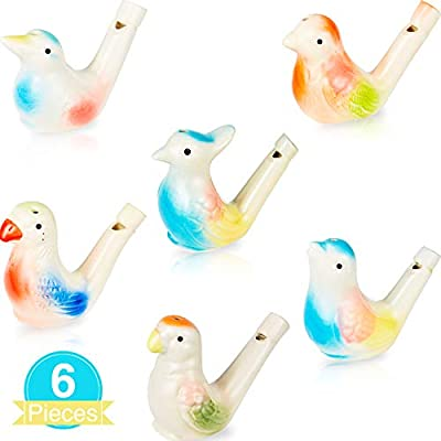Bird Water Whistles Porcelain Bird Water Whistle Colorful Ceramic Bird Whistles Toys for Kids Birthday Gift, Easter Gift