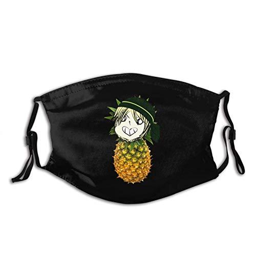 dpcm Ananas-Sturmhaube mit 2 Filtern, verstellbar, winddicht, staubabweisend, mit Ananas-Motiv
