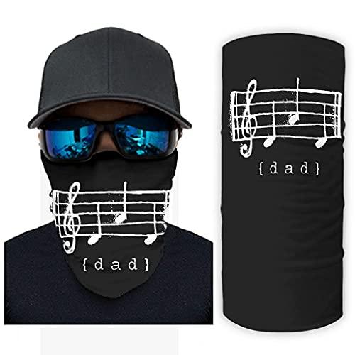 CCMugshop Pasamontañas divertido para papá con notas musicales, regalo para la cara, pasamontañas, transpirable, color blanco, talla única