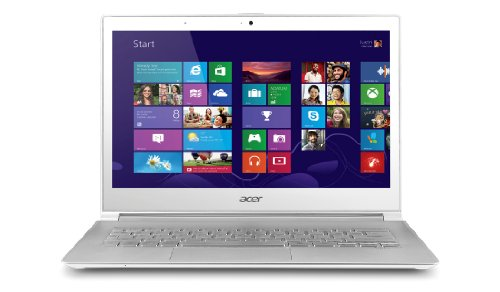 Acer Aspire S7-391 13.3-inch Laptop (White) - (Intel Core i5 3337U 1.8GHz Processor, 4GB RAM, 128GB SSD, LAN, WLAN, BT, Webcam, Integrated Graphics, Windows 8 64-Bit)