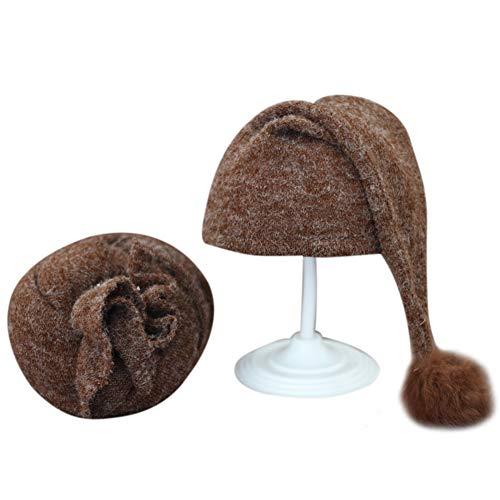 Asudaro Nouveau-né Photographie Wrap et Bébé Bonnet à Tricoter Chapeau Bébé Photo Costume Accessoires de Tir pour 0-3 Mois Bébé Bébé Bijoux Cadeau