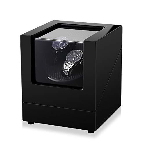 Kranich Double Automatic Watch Winder Box Electric Wooden Luxury Storage Case