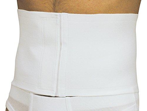 MANIFATTURA BERNINA Sana 55103 (Talla 3) - Faja compresión Abdominal Ajustable Alta 18 cm en algodón cinturón de Apoyo postoperatorio