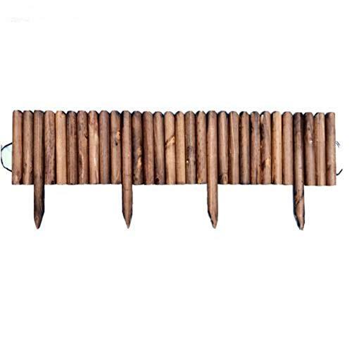 Valla de madera, valla de jardín, valla, valla decorativa, valla, valla de listones impermeable, impermeabilizada, valla para flores, césped