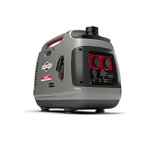 Briggs & Stratton Tragbarer Benzin-Inverter-Generator der PowerSmart-Serie P2200 mit 2200 Watt/1700 Watt sauberem Strom, ultraleise und leichtgewichtig