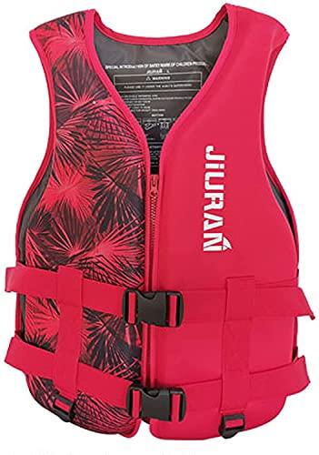 Kayak Lifevest for Adult,S-XXXL Plus Size Kayak Lifevest for Men Women,Water Sport Boating Jacket Outdoor Sports Vest Adults Jacket Lightweight Waistcoat Water Sports Accessories (Medium, Red)