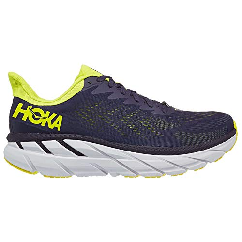HOKA ONE ONE Men's Clifton 7 Running Shoe (Odyssey Grey/Evening Primrose, 9)