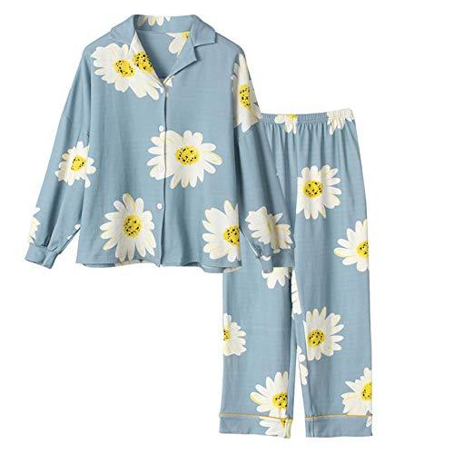 2021 Ocio Ropa De Dormir De AlgodóN Pijamas Ropa De Mujer Tops De Manga Larga Conjunto De Pijamas para Mujer Traje De Noche Ropa De Hogar TamañO Grande