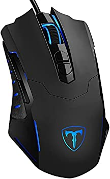 Wired Gaming Ergonomic LED Backlit Mouse with Programmed Buttons