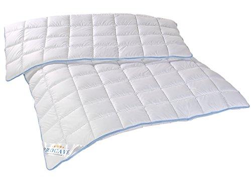 PROCAVE TopCool warme Duo Winter-Qualitäts-Bettdecke für die kalte Jahreszeit | Soft-Komfort-Bettdecke | kochfeste Steppdecke | atmungsaktiv & wärmeausgleichend | Made in Germany | 135x200cm