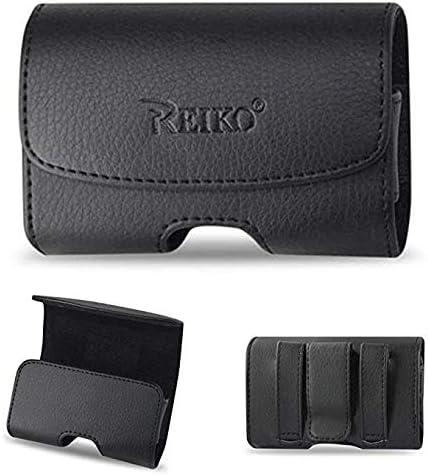 Black Horizontal Leather Case for Cingular Flip IV Flip Phone