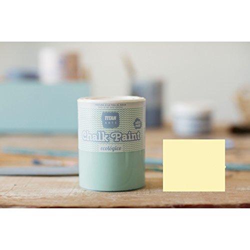Chalk Paint Titan Pintura a la Tiza Ecológica 750 ml (234 Azonto Amarillo)