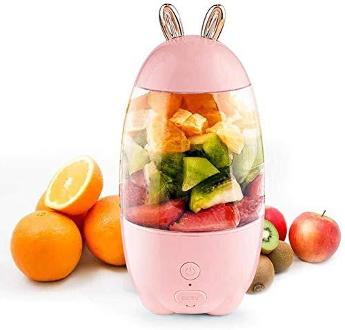 SYLOZ-URG Tamaño portátil personal Blender batidos y batidos, 330 ml mezclador personal, 1500mAh USB recargable, libre de BPA, for picnic al aire libre viajes gimnasio SYLOZ-URG (Color : Pink)