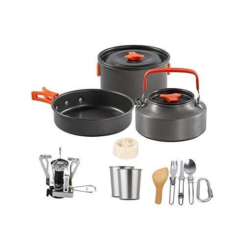 Outdoor Pot Set Teapot Camping Pot Cooker Set 2-3 Portable Aluminum Alloy Pot Set