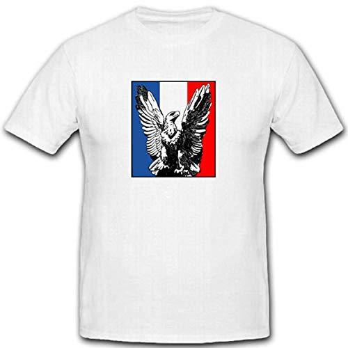 Camiseta con escudo de águila y bandera de Francia Blanco XXXXL